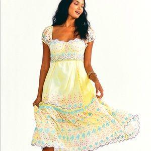 Love Shack Fancy Magena Midi dress, size 2, NWT
